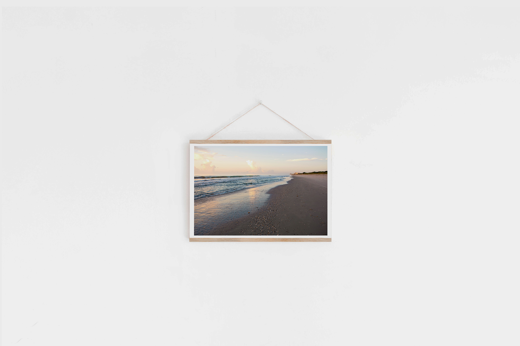 display photo in wood wall hanger cocoa beach print amsw photography